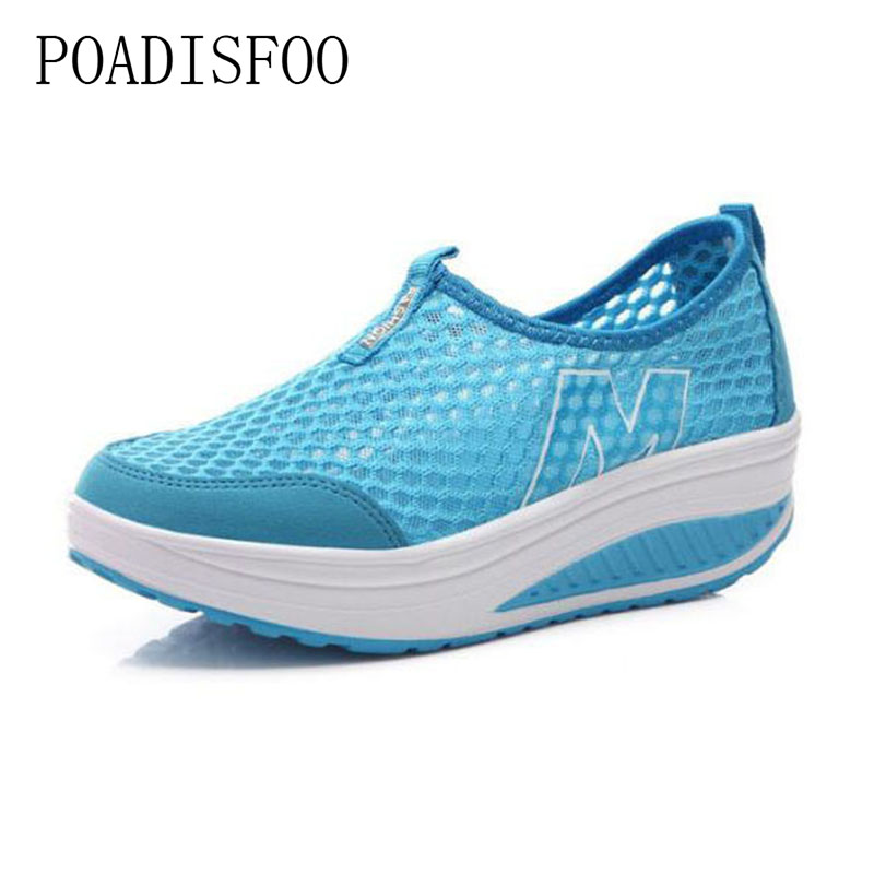 Women Loafers Breathable Air Mesh SwingNew Women's Shoes Casual Sport Fashion Shoes Walking Flats Height Increasing .LCH-3308 hosteven women shoes casual sport flats fashion shoes walking spring summer loafers breathable air mesh walking shoes