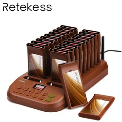 RETEKESS T116 Restaurant Pager Waiter Calling System Wireless Bar Queue Ordering System 20 Call Buzzer Quiz Customer Service
