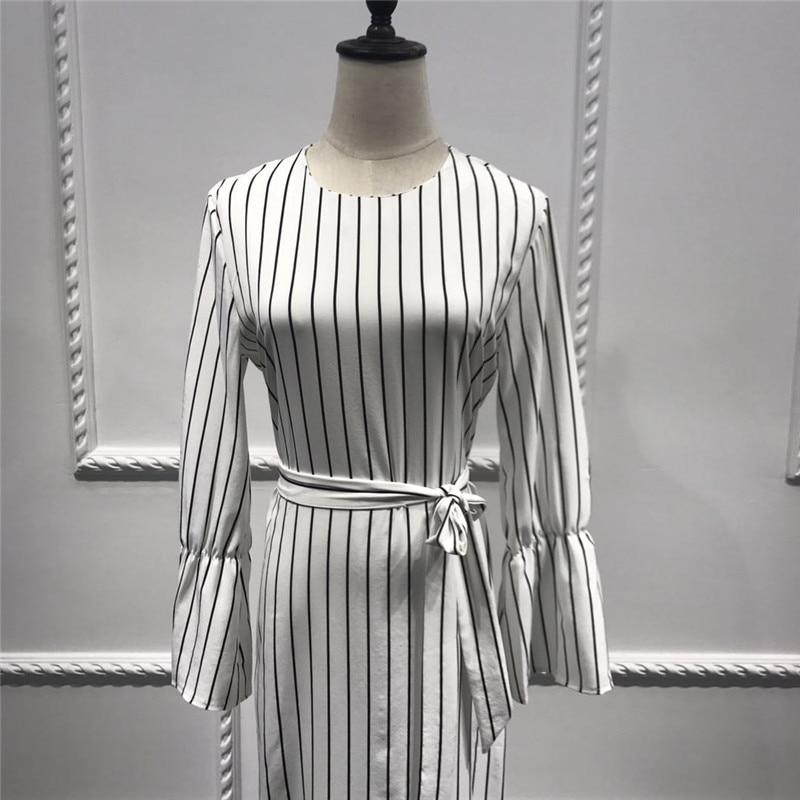 3a881fbc35 2019 2018 Adult Hijab Abaya Fashion White Stripe Sashes Long Muslim ...