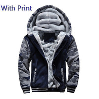 Kids Jacket Boys Clothes Winter Super Warm Hoodies Sweatshirts Thick Fleece Teenage Boys Camouflage Coats Velvet Children 15 20Y