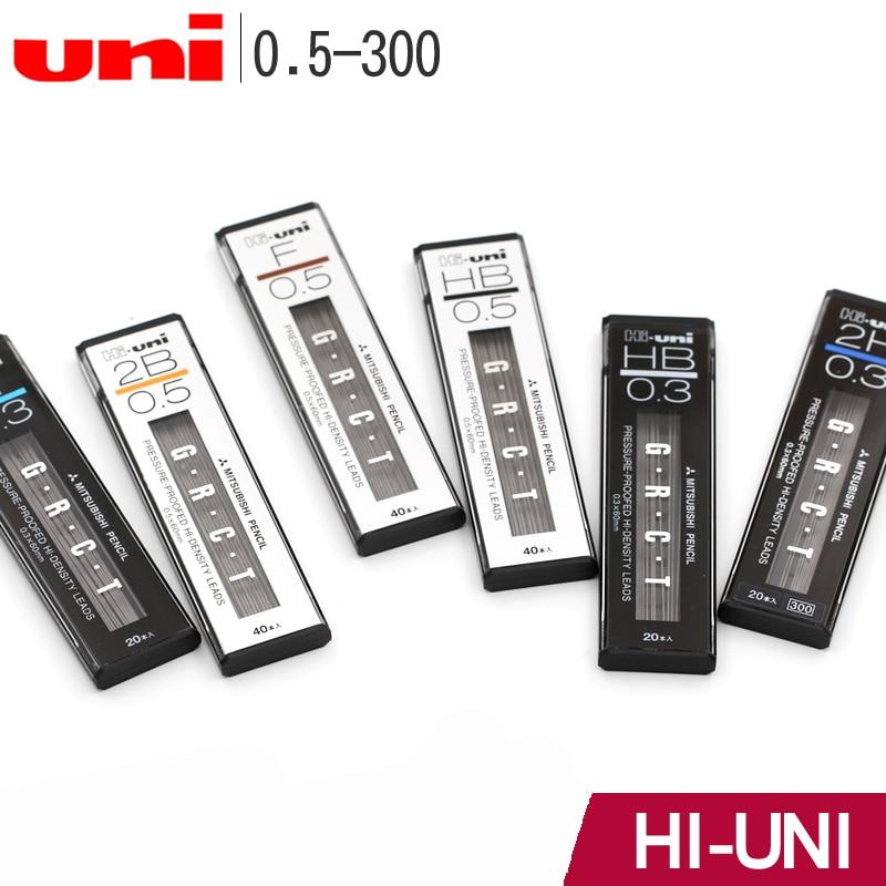 New! Japan UNI Hi-UNI 03/05-300 Pressure-proofed Density Leads for Mechanical Pencils Smooth Refills No Break 0.3mm/0.5mm pilot hfma 50r shake mechanical pencils 0 5mm no break limited cartoon theme