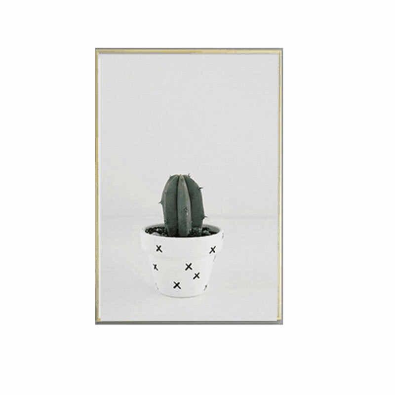 Ins стиль скандинавские настенные картины для гостиной холст картина украшение сада кактус зеленый свежий художественные плакаты и принты