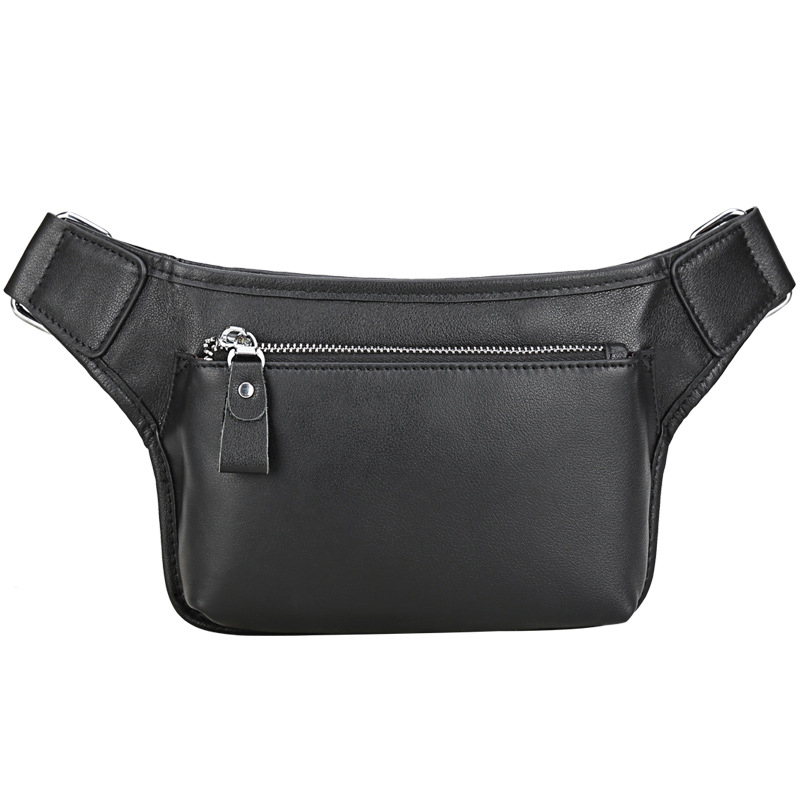 Men s Waist Bag Genuine Leather Cowhide Travel Cell Mobile Phone Hip Bum Belt Pouch Male