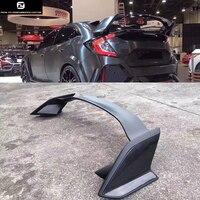 Тип R Стиль углеродного волокна FRP задний спойлер Крылья для Honda Civic 10TH 16 17