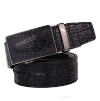 Hot sale!!! Famous Design Men's Leather Belts Free Shipping High Quality Alligator Pattern Belts for Men Brand Automatic Belts