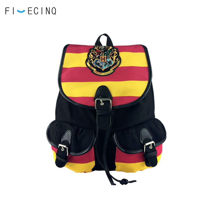 Gryffindor Stryipe Rope Bag Student Cosplay Boy Girl  Canvas Bag Hogwarts School Of Witchcraft And Wizardry Shoulder Backpack