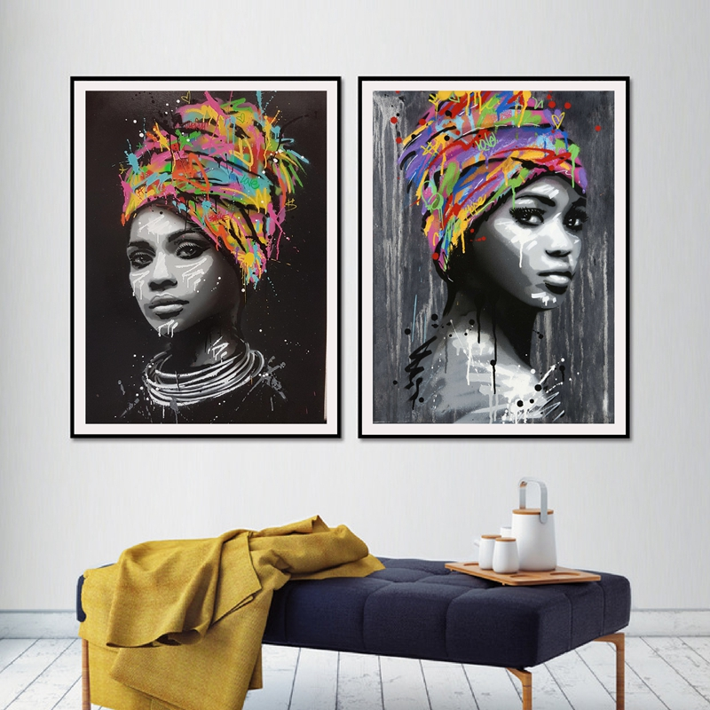 Worry-freepurchase Traditional African American Women Watercolor Portrait Picture Print Waterproof Fabric Polyester Shower Curtain