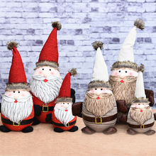 Manufacturers selling Christmas Santa Claus doll ornaments family of three dolls for Christmas gifts
