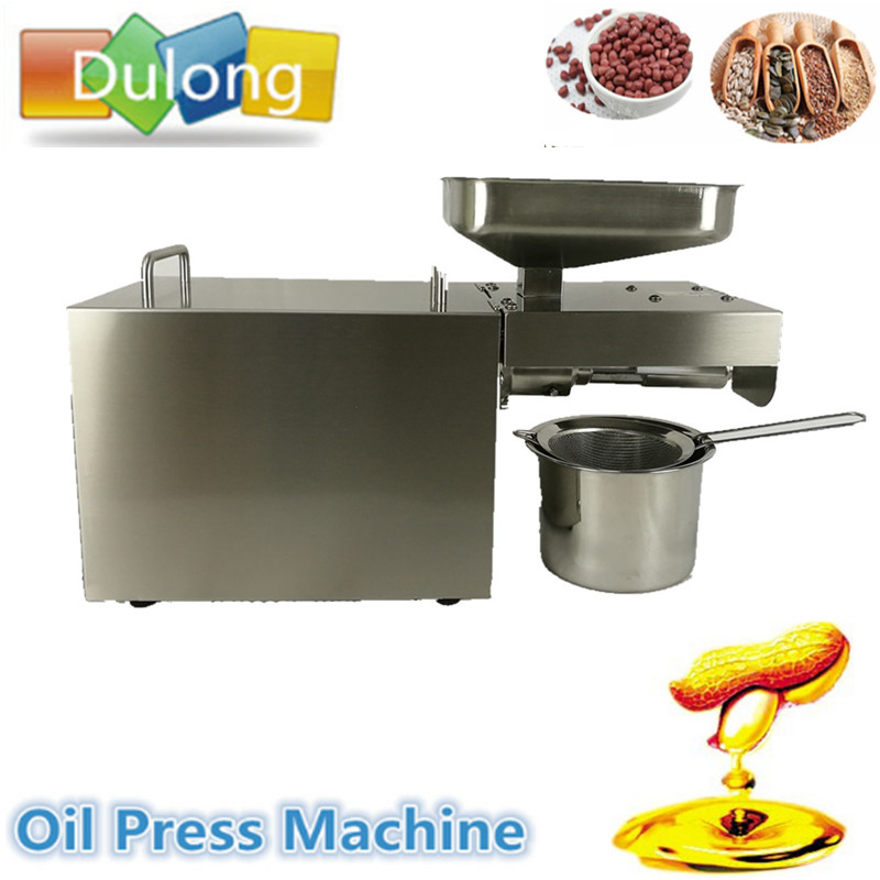Automatic Oil Press Machine Nuts Seeds Oil Presser Pressing Machine All Stainless Steel 110/220V with English Manual automatic oil press machine nuts seeds oil presser pressing machine all stainless steel high oil extraction