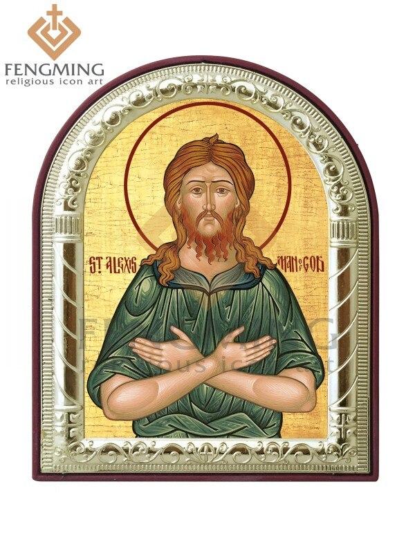 세인트 알렉시스 신 가톨릭 기호 금속 프레임 플라스틱 홈 장식 선물 교회 용품 종교 가톨릭 성도