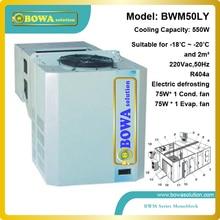 2M3 freezer room refrigeration unit including evaporator, condenser and compressor inside