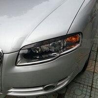 A4 B7 Carbon Fiber Car Styling Head light Eyelids Cover Trim Sticker for Audi A4 B7 2005 2008