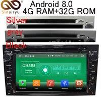 Sinairyu Android 8.0 8 Core 4G RAM Car DVD GPS For Opel Vectra Antara Zefira Corsa Meriva Astra WIFI Autoradio Multimedia Stereo