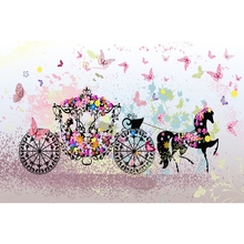 Yeele Carriage Butterfly Flower Fantasy Backdrop Vinyl Photocall Photography Background Photographic Backdrop For Photo Studio professional10x20ft muslin 100% hand painted photo backdrop background fantasy wedding studio photography backdrop fabric
