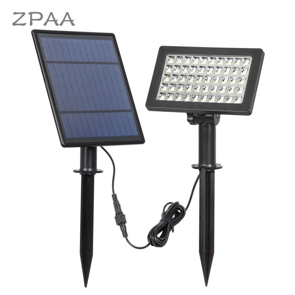 focos solares LED luces inundación Solar de 50 Panel DI2H9E