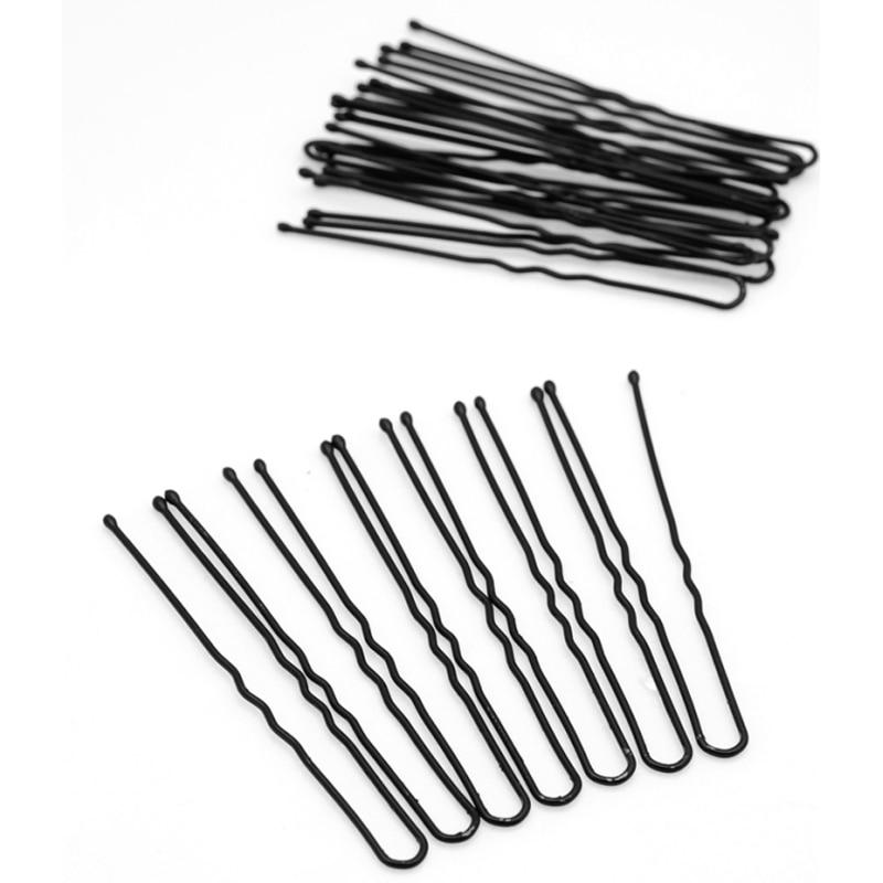 90Pc Black Metal Hair Clips Metal Thin U Shape Hairpins Hair Pin Clips Barrette Headwear Hair Ornaments Hairdressing Accessories