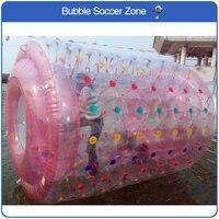 Бесплатная доставка 2.4*2.2 м надувных открытый прозрачный ходьба колеса шарик воды открытый пляжный мяч приходят насос