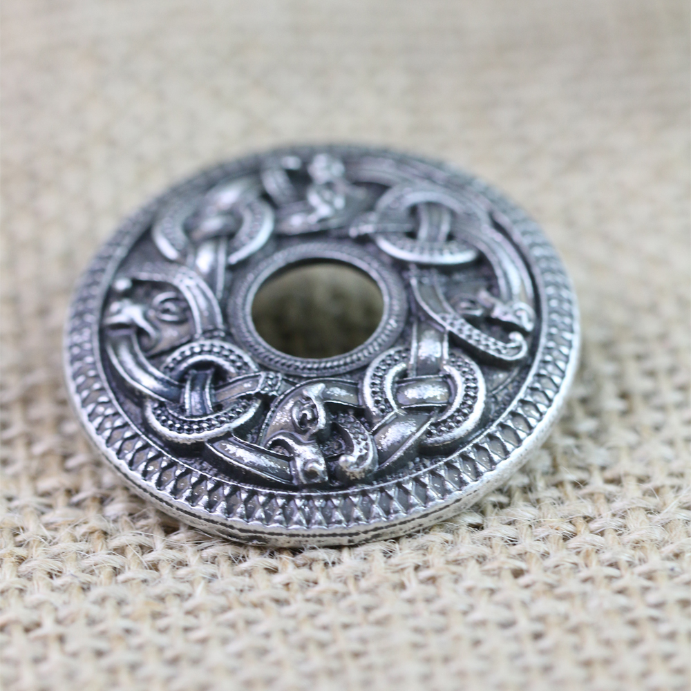 Langhong 10pcs Norse Viking Dragon Brooches Legendary Vikings Amulet Sweden Double Dragon Set Brooches Viking brosch