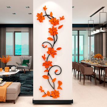 Flower Vine Wall Stickers Home Decor Large Paper Flowers Living Room Bedroom Wall Decor Sticker on The Wallpaper Diy Home Decals 12
