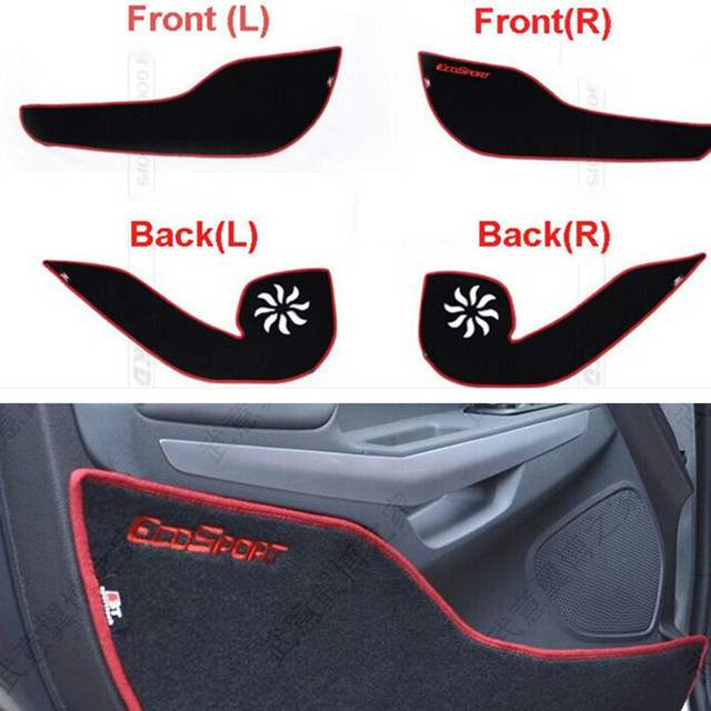 4pcs per set Car Styling Door Protector Side Edge Protection Pad For Ford Ecosport 2013 2014 2015 2016 Protecter Anti-kick Mat
