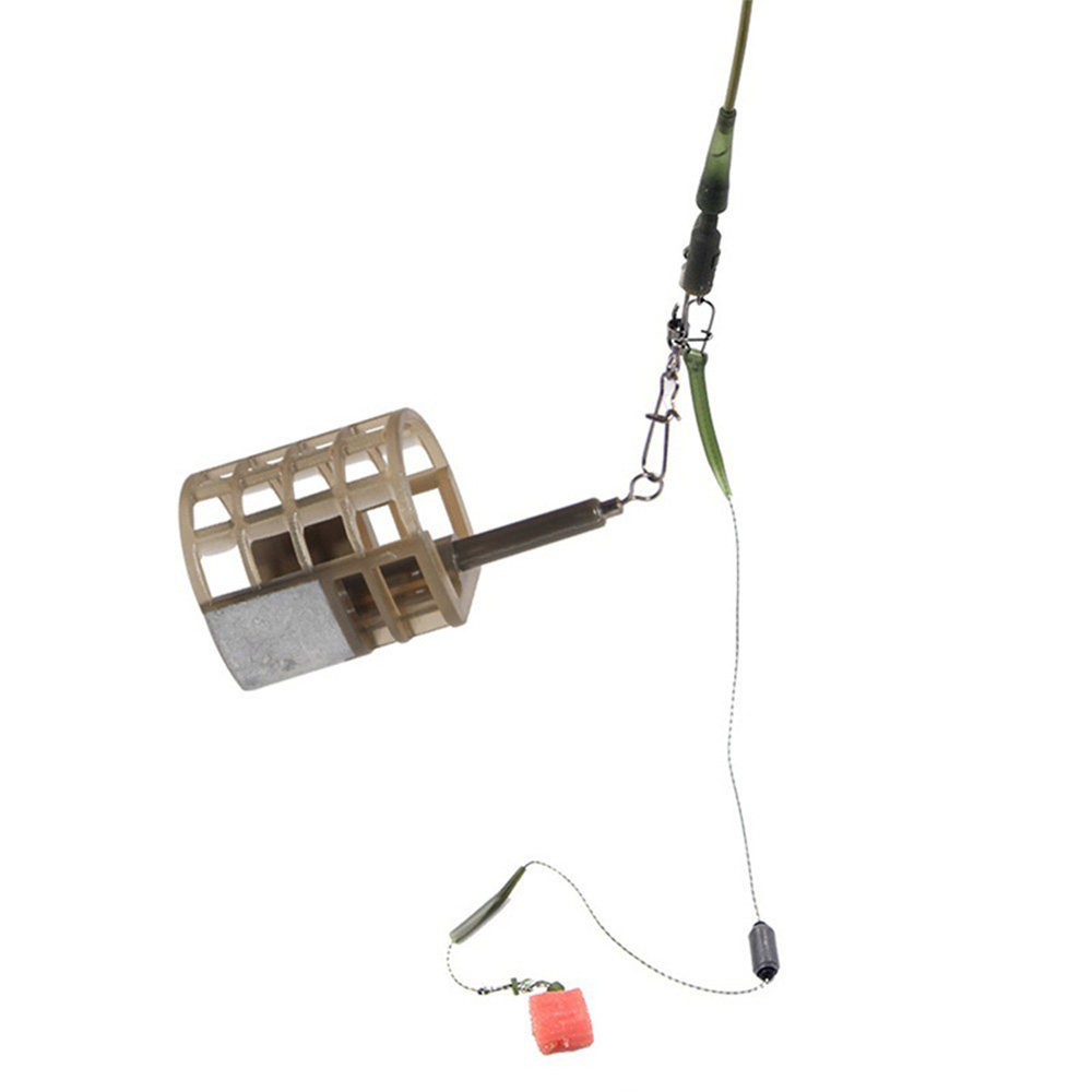 Hyaena 3pcs 25/30g Fishing Bait Thrower Cage Push Fish Shrimp Trap Basket Carp Fishing Feeder Tools Accessories