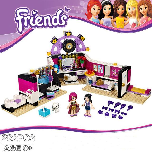 2016 Nuevos Bloques de Construcción Niña Vestidor 282 unids BELA Amigos Regalos de Navidad Juguetes de Los Ladrillos Compatible Legoe amigos