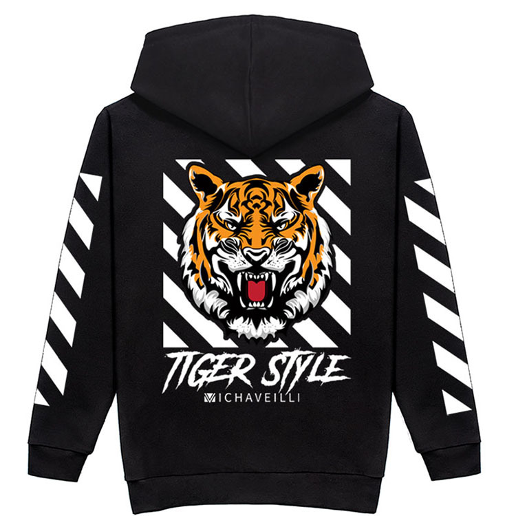 Plus size 8XL 7XL 6XL Autumn Mens Casual Hoodies pullover tiger printed Long Sleeve Quality Sweatshirt Sportswear Male Hoodies