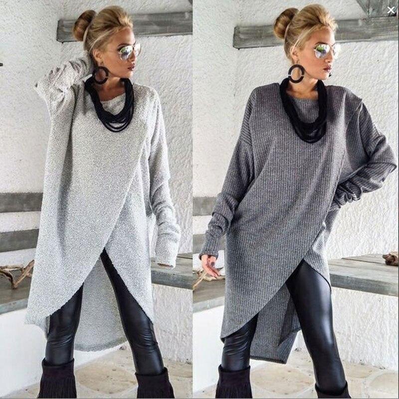 Womens Winter Long Sleeve Blouse Sweater Ladies Sweatshirt Jumper Pullover Tops
