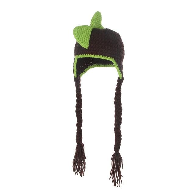 Baby Knitted Hat Toddler Boys Girls Dinosaur Feet Knit Crochet Winter Hat  Cap Newborn Baby fa07ca43533