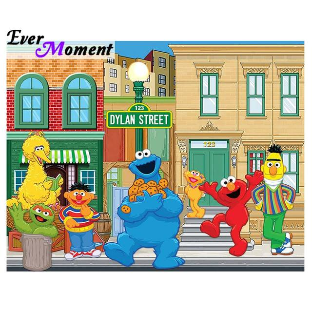 Ever Moment Diamond Painting Sesame Street Cartoon DIY Diamond Embroidery  Full Square Gift for Kids Handicraft ASF929-in Diamond Painting Cross  Stitch