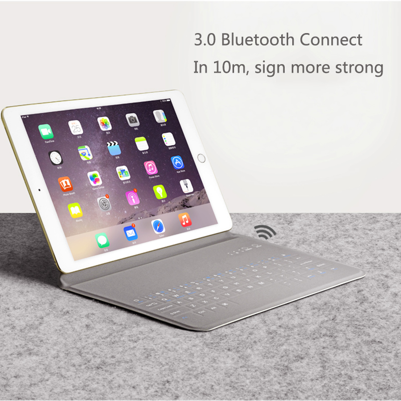 Gerleek Tablet Bluetooth Keyboard Cases for iPad 1 2 3 Mini 9.7 inch Ultra Thin PU Protective Cover Android for iPad Air 2 2017