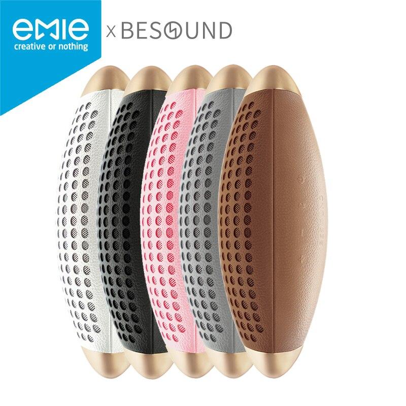 EMIE Wireless <font><b>Speaker</b></font> <font><b>Bluetooth</b></font> 4.0 AptX Danish Opalum Tuning HIFI Subwoofer 16W Channel 2.0 <font><b>Surround</b></font> Sound Besound Rugby Stereo