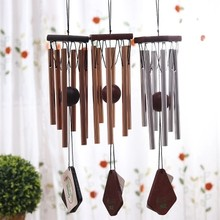 Nordic Music Wind Chimes Metal Pipe Wood Ornaments Door Decoration Japanese  Style Outdoor Garden Pendant Creative
