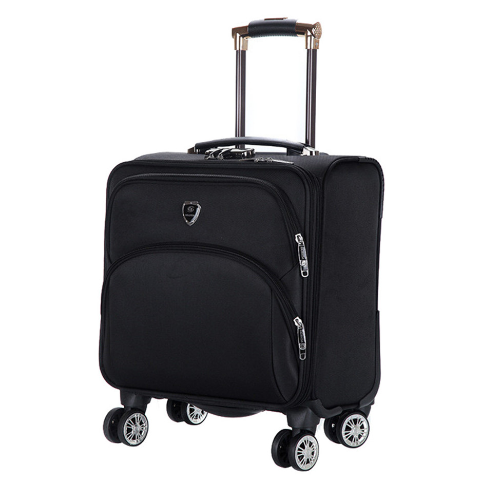 16 inch waterproof oxford suitcase trolley luggage business trolley case men 39 s suitcase travel. Black Bedroom Furniture Sets. Home Design Ideas
