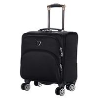 Maleta Oxford impermeable de 16 pulgadas  maleta con ruedas  cubierta de carrito de negocios  Maleta de viaje para hombre  maleta con ruedas