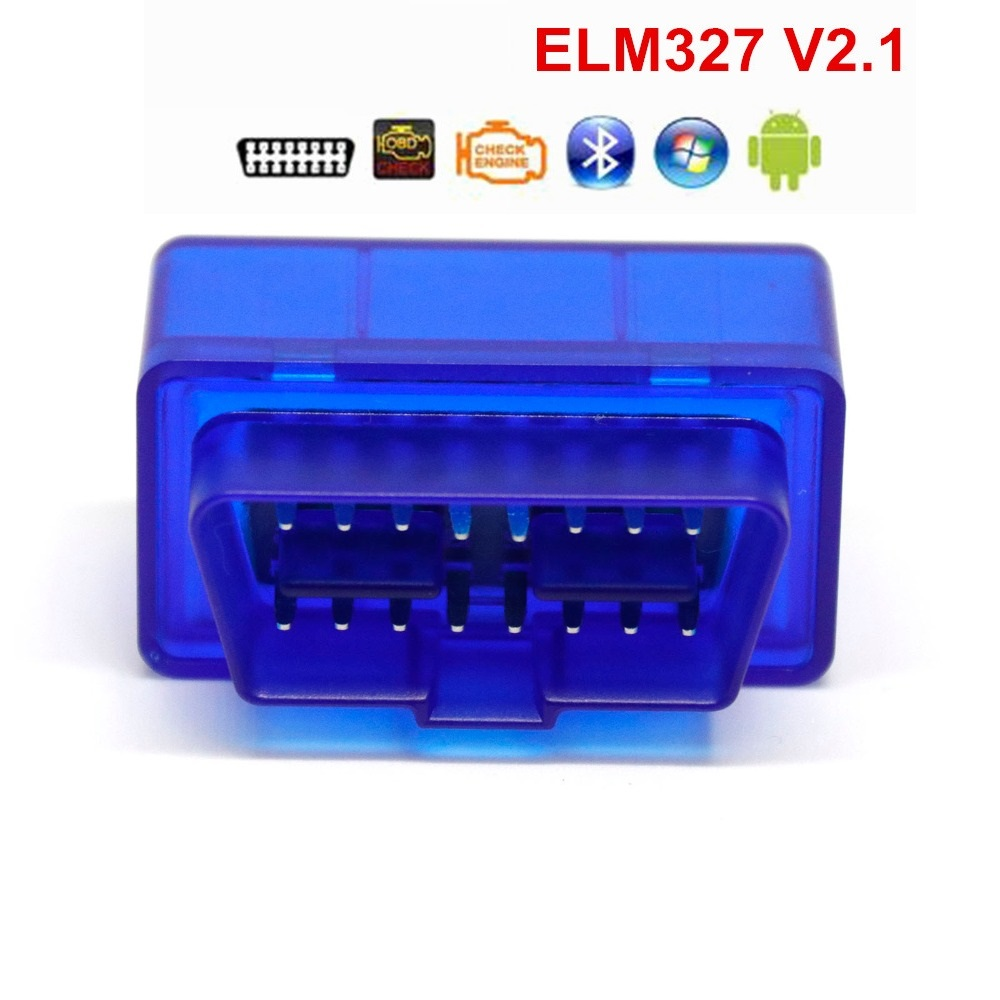 Super Mini ELM327 OBD2 Car Bluetooth Auto Scanner OBDII 2  ELM 327 Tester Super Mini Bluetooth for Android Windows Symbian