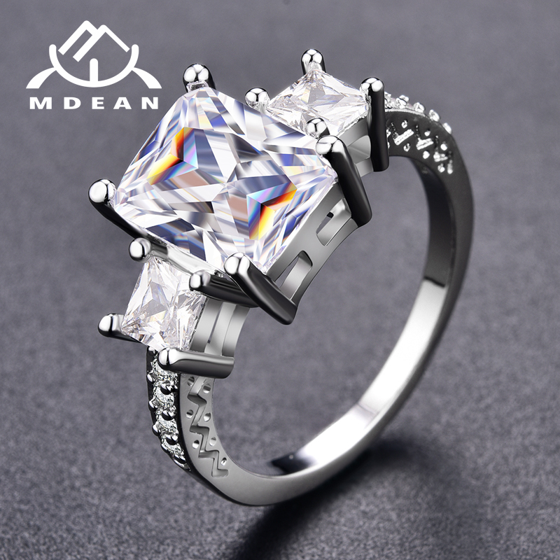 MDEAN wedding rings White Gold...