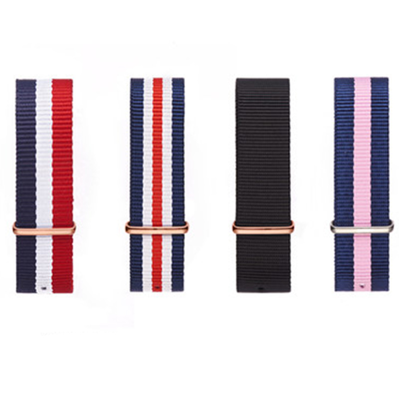 High Quality Nylon Watchband Silver Buckle For Daniel Wellington 18mm 20mm Luxury Replace Bracelet Strap Watch Band For Dw Watch