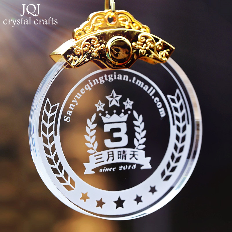 Customized Crystal Medal Sports Awards Sandblasting Logos & Words For Personalized DIY Gifts Home Decoration Accessories