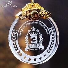 Customized Crystal Medal Sports Awards Sandblasting Logos & Words