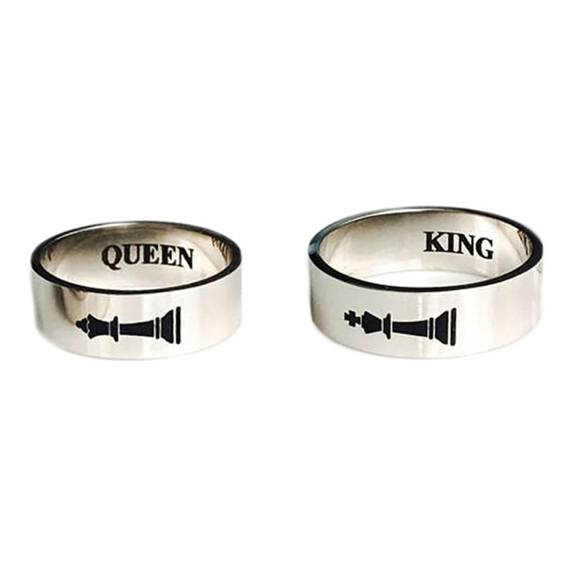 1 шт. горячие подарок король и queen простой Высокое качество модные кольца пара Любовь Обещание Мужская одноцветное Цвет Модные украшения