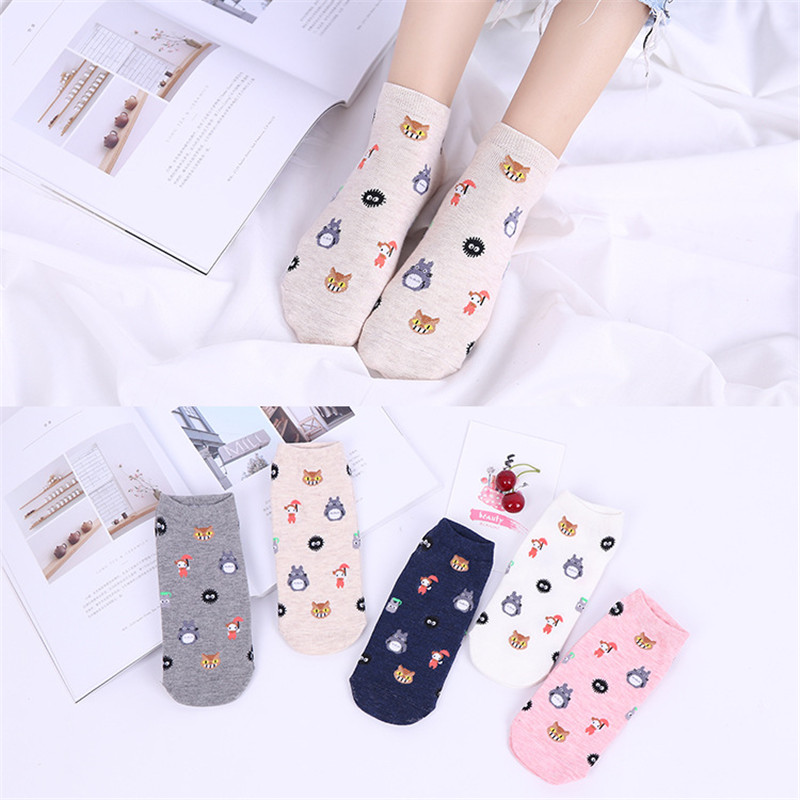 Cute Animal Cotton Socks For Female  Chinchilla Summer And Spring Short Socks  Women Casual Soft  Funny Socks Kawaii