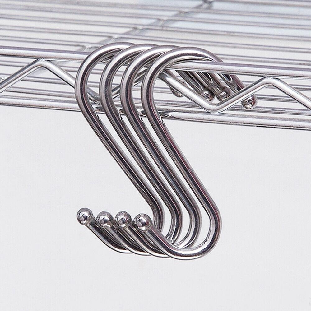 10 Pcs Stainless Steel S Hooks Kitchen Meat Pan Utensil Clothes Hanger Hanging Multifunction Hooks Hanger Racks