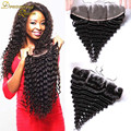 7A Cheap Malaysian Deep Wave Lace Frontal Closure 13x4 Virgin Human Hair Lace Frontal With Baby Hair Full Lace Frontals Closure
