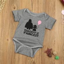 LONSANT 2017 Baby Girl Cotton Romper Funny Baby Clothes Letter Print Jumpsuit Pasgeboren Baby Kleding Kids Clothing Dropshipping