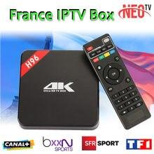 Français Arabe IPTV Box Android IPTV TV Box H96 S905 1 année Livraison 1200 + Canaux Français QHDTV media player Android 6.0 Smart tv boîte