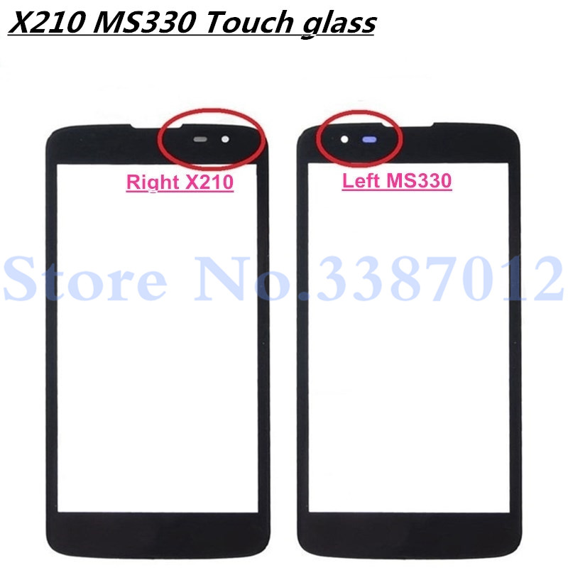 5.0'' Touch Screen Lens For <font><b>LG</b></font> <font><b>K7</b></font> X210 <font><b>X210DS</b></font> MS330 LS675 Mobile Phone Touch Panel Outer <font><b>Glass</b></font> LCD Display Front Screen image