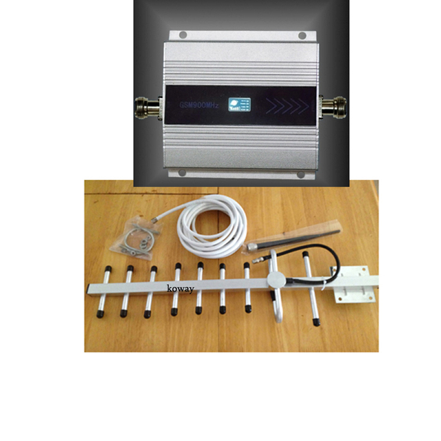 GSM signal REPEATER! GSM signal booster 900mhz signal amplifier for mobile phone with 13dbi yagi LCD display