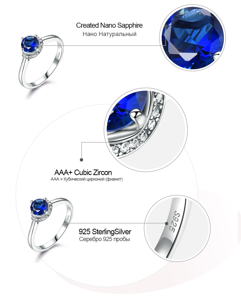 Honyy Sapphire 925 sterling silver rings for women RUJ090S-1-pc (7)