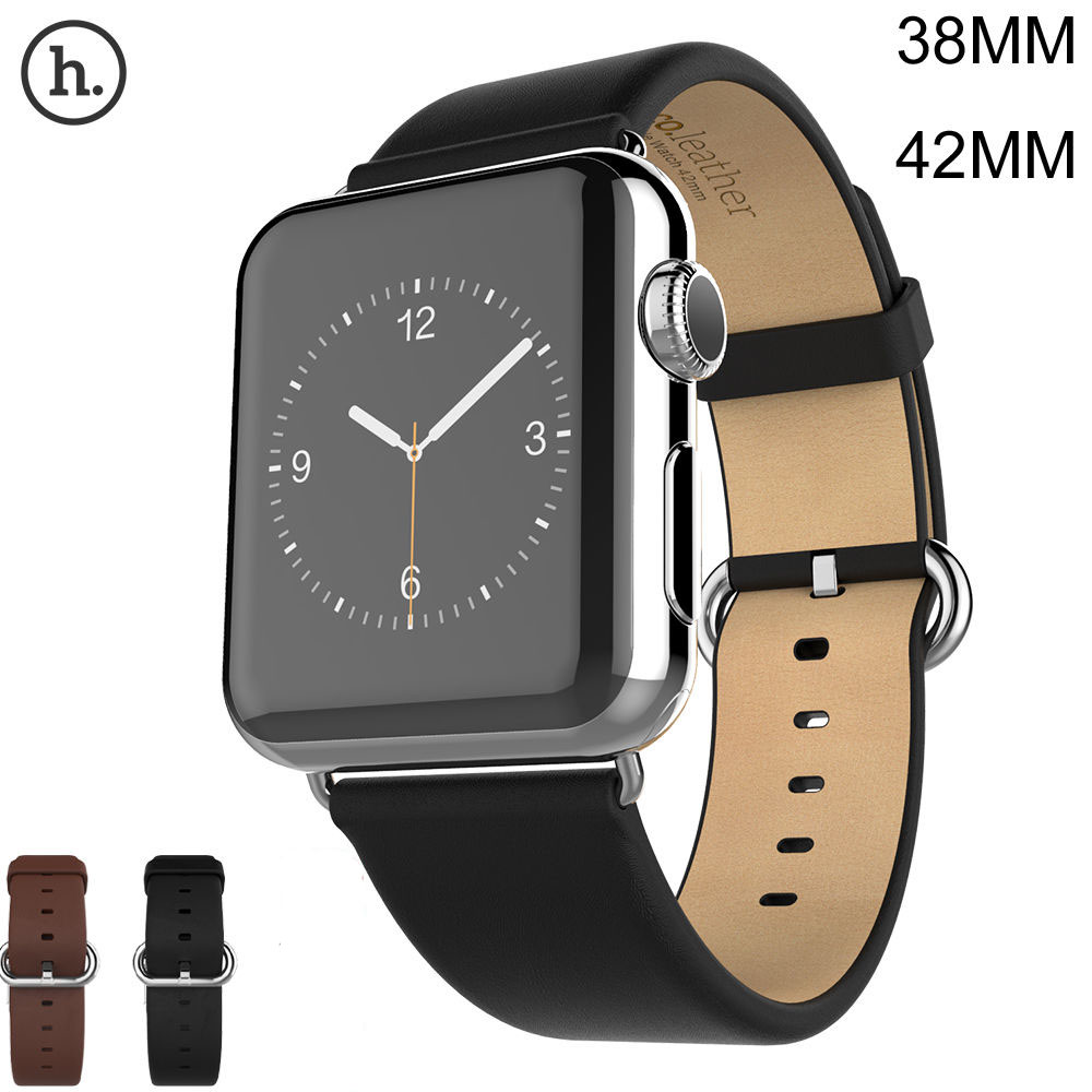Original HOCO Classic Genuine Leather Watch Band for Apple Watch Strap for iWatch 42mm 38mm Series 1 2 3 Bracelet Wristband cowhide genuine leather strap watch band for apple watch iwatch series 1 series 2 38mm 42mm wristband replacement with adapter